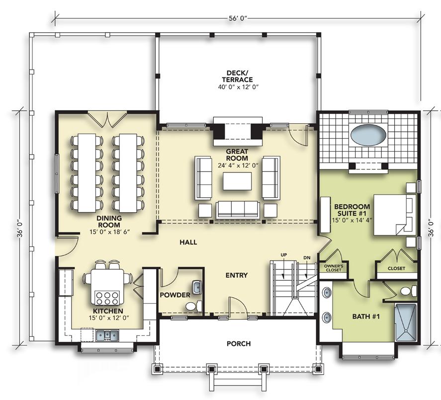 8 Bedroom Main Level