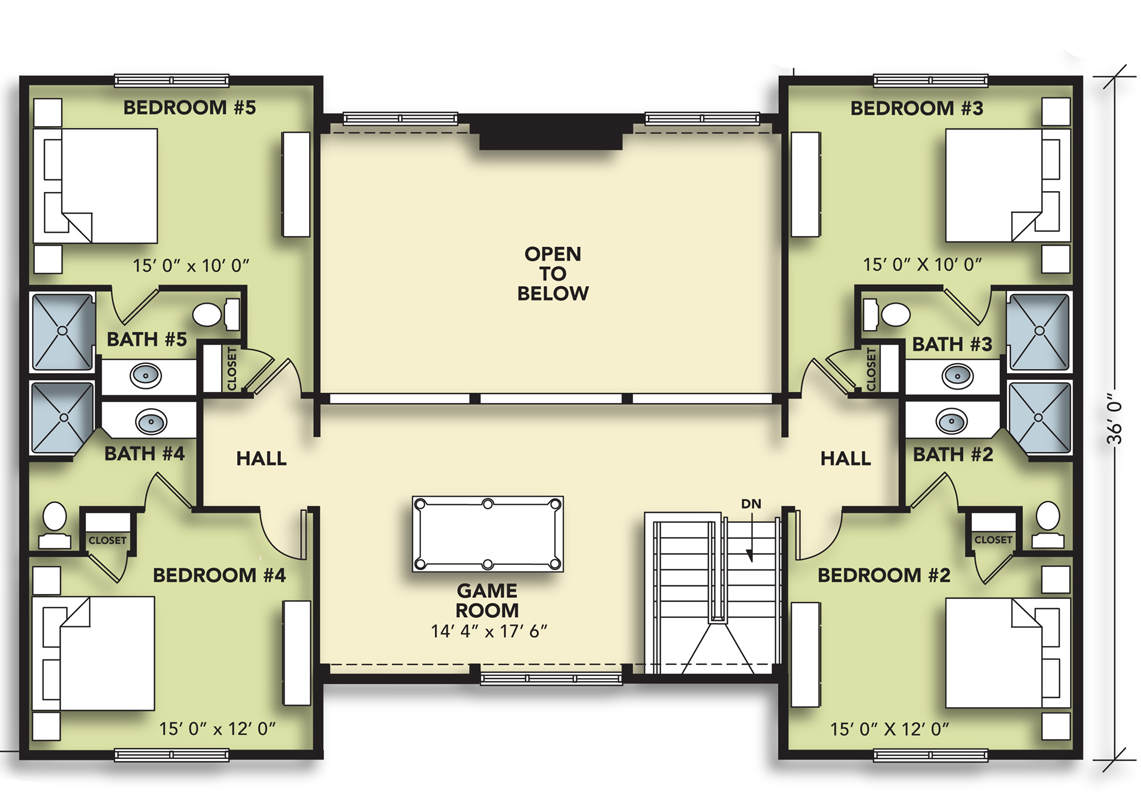 8 Bedroom Upper Level